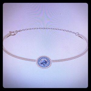 Swarovski Oxygen Rose Hold & Blue Crystal Bangle